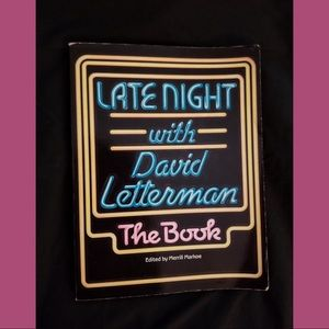 ⭐️Late Night with David Letterman The Book VTG 80s